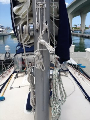 winches on the mast | Morgan 38 Sailboat Forum