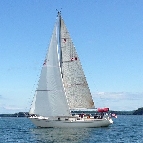Sailing Wild Oats on Lake Champlain - The Morgans do look beautiful...people always sail close by to ask about our boat